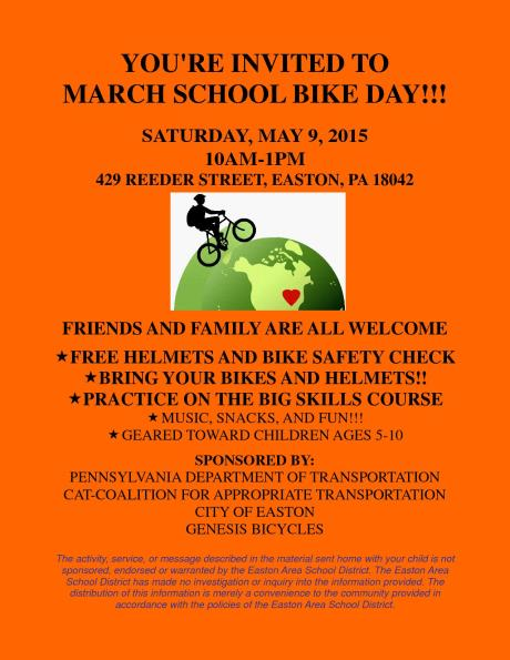 BikeSmartEaston2015BikeDayInviteFlyer-March School-web111