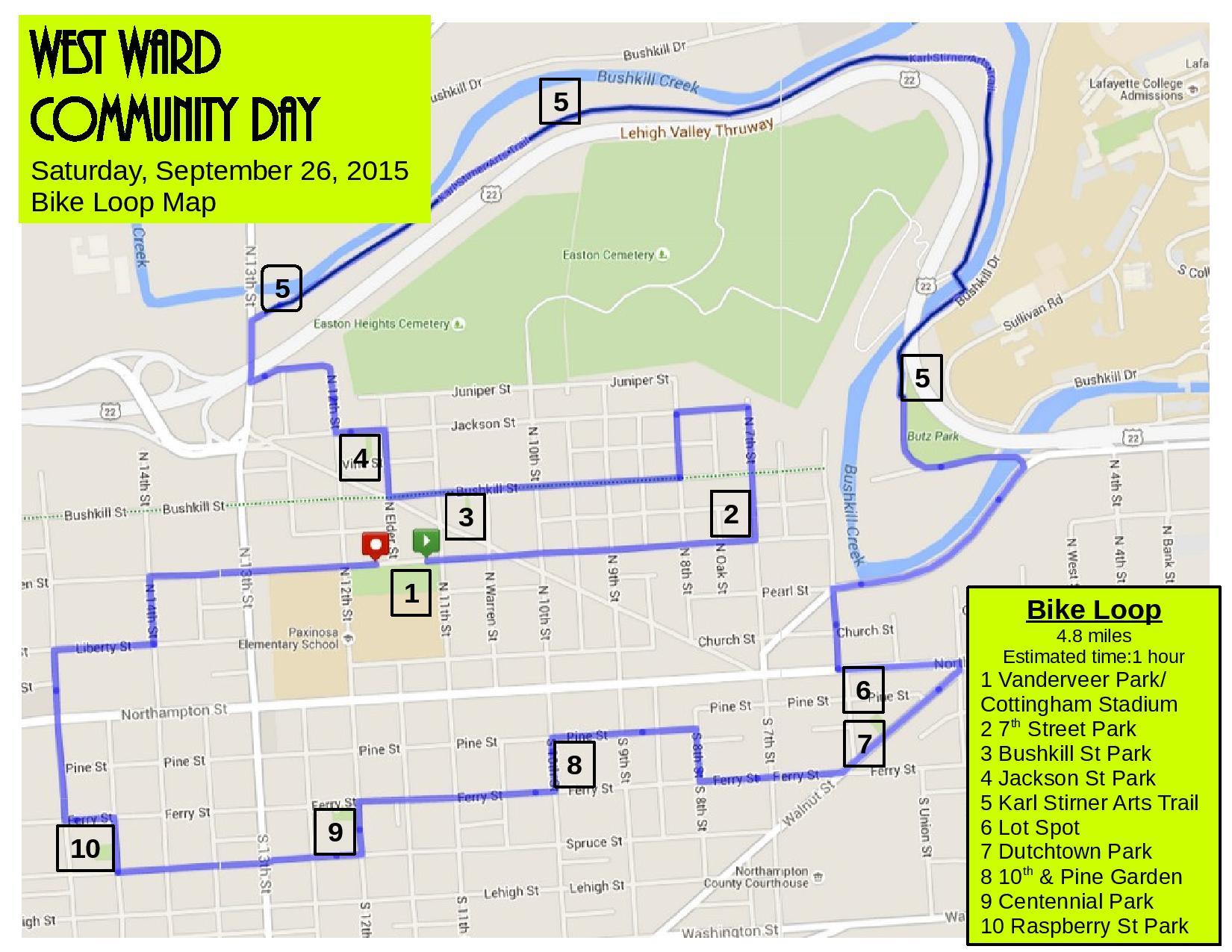Easton West Ward Community Day bike smart easton