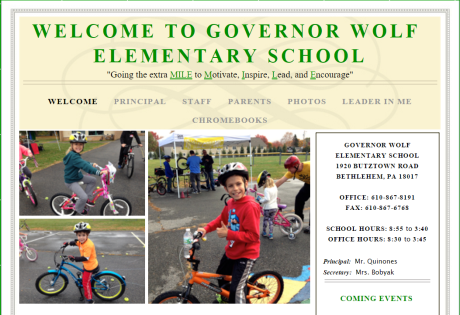 Bike Smart Easton visited Governor Wolf Elementary School with in-school assemblies on October 21, 2015, and Bike Day on October 25, 2015